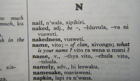 Xitsonga Dictionary Entry
